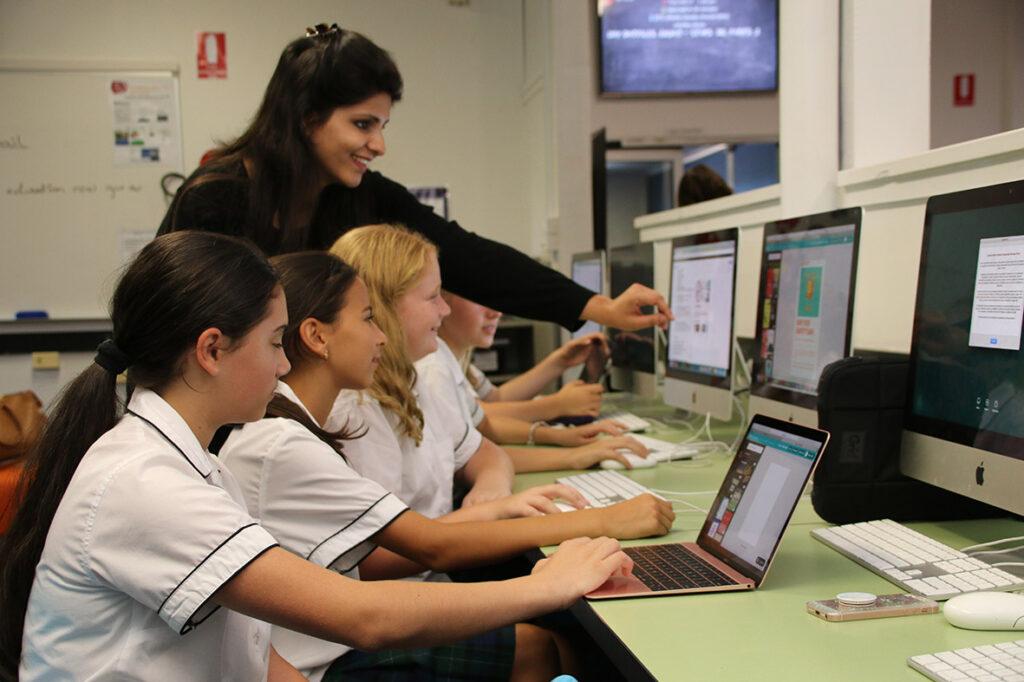 Technology Class with teacher