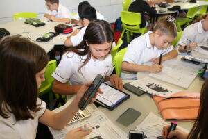 Students working in Mathematics